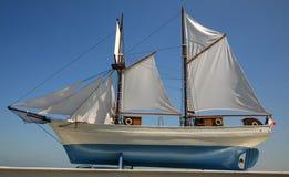 Voile de bateau Photo stock