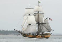 Voile de configuration de bateau Photo libre de droits