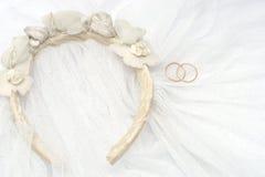 Voile de mariage avec des boucles Photo stock
