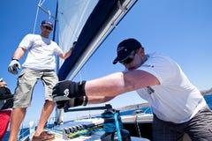 Voile de regatta de navigation et trophée 2012 d'amusement Photographie stock libre de droits