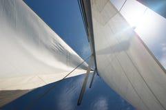 Voile de yacht photographie stock