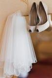 Voile nuptiale l'épousant Photo libre de droits