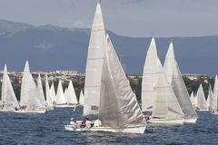 Voiles blanches Images stock