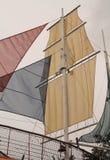 Voiles colorées Images stock
