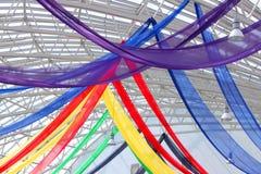 Voiles colorés décoratifs Photos libres de droits