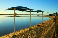 Voiles d'ombre de lagune Photos libres de droits