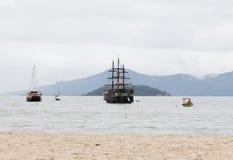 Voiliers dans Florianopolis, Brésil Image libre de droits