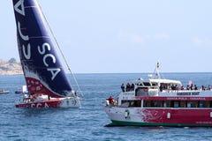 Voiliers de course d'océan de Volvo dans la course Photo stock