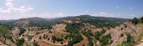 Voio mountain range. Panoramic view of Voio mountain range in southwestern Kastoria and western Kozani prefecture, Greece royalty free stock image