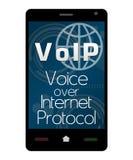 Voip智能手机 库存图片