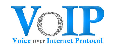 VoIP Blue Grey Royalty Free Stock Images