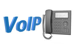VoIP concept with IP phone. Isolated on white background Royalty Free Stock Images
