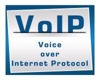 VoIP fyrkantblått Royaltyfri Foto