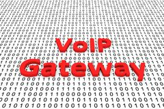 Voip gateway. In the form of binary code, 3D illustration Stock Photos