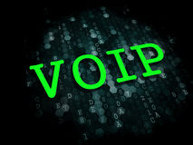 VOIP. Information Technology Concept. VOIP - Information Technology Concept. The Word in Green Color on Digital Background Stock Photo
