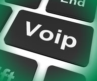 Voip Key Means Voice Over Internet Protocol Or Broadband Telepho Royalty Free Stock Image