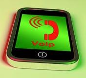 Voip på telefonshowstämma över internet stock illustrationer
