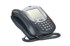 Voip Phone 3. Digital VoIP phone (isolated on white Royalty Free Stock Photos