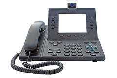 VoIP Phone with Blank Display Stock Image