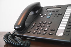 VoIP phone. Business VoIP phone inside hotel room Royalty Free Stock Images