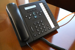 VoIP phone device Stock Photo