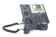 VOIP Phone Isolated on White Background Royalty Free Stock Photos