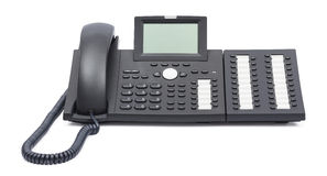 Voip phone isolated on white background Royalty Free Stock Image