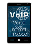 Voip Smartphone Obrazy Stock