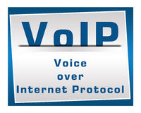 VoIP Square Blue Royalty Free Stock Photo