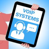 Voip Systems Tablet Shows Internet Voice 3d Illustration. Voip Systems Tablet Showing Internet Voice 3d Illustration Royalty Free Stock Image