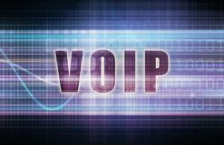 VOIP. On a Tech Business Chart Art Royalty Free Stock Photo
