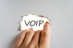 Voip text concept Royalty Free Stock Images
