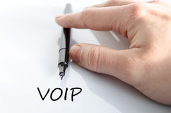 Voip text concept Stock Photo
