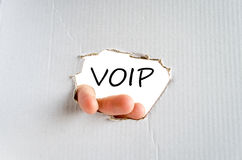Voip text concept Royalty Free Stock Photos