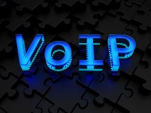 VoIP (Voice over Internet Protocol). Computer generated image (3d render Stock Photography