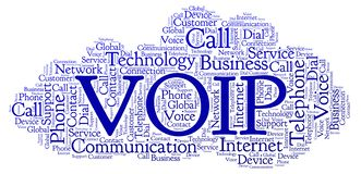 VOIP word cloud. Wordcloud made with text only vector illustration