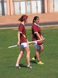 Quidditch : Deux sorcières ? Photo libre de droits