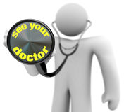Voir le votre docteur - stéthoscope illustration stock
