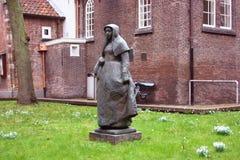 Voisinage à Amsterdam, résidence des beguines image libre de droits