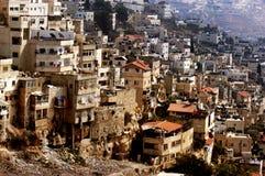 Voisinage arabe de Silwan à Jérusalem Photographie stock libre de droits
