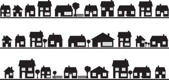 Voisinage avec des maisons Photo libre de droits