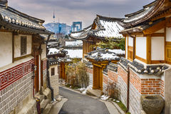 Voisinage coréen historique photos stock