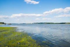 Voisinage de bord de mer de fleuve Potomac à l'Alexandrie, la Virginie du photographie stock