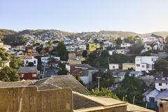 Voisinage de Cerro Concepcion, bâtiments de Valparaiso et Architec Image libre de droits
