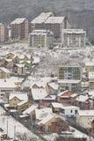 Voisinage de flanc de coteau d'hiver Photos libres de droits