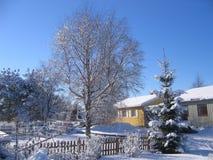 Voisinage de l'hiver Images libres de droits