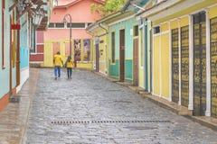 Voisinage de Las Peñas à Guayaquil Equateur photographie stock libre de droits