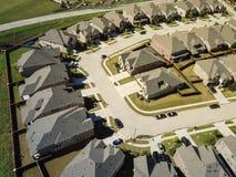 Voisinage de nouveauté de vue supérieure près de Dallas, le Texas photo stock