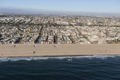 Voisinage de plage de Hermosa près de Los Angeles Photographie stock