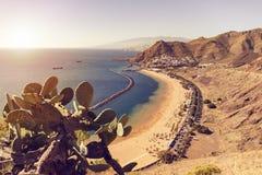 Voisinage de plage et de San Andres de Las Teresitas dans Ténérife Photos libres de droits
